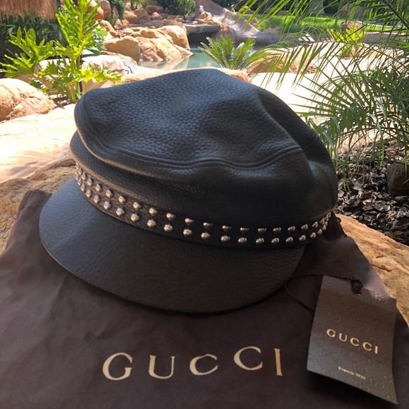 cfcb28ec76387 Gucci Accessories - Authentic Gucci newsboy unisex studded cap hat